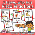 I Have, Who Has Fraction Card Game with Pizza Theme