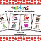 I Have, Who Has? Game - Holidays - Basic Vocabulary