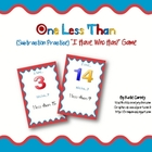 &quot;I Have, Who Has?&quot; Game - One Less Than (Math: Subtraction)