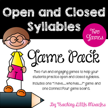 I Have, Who Has Game - open and closed syllables