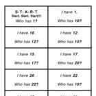 I Have, Who Has? Math Activities: Numbers 1-30, Tens/Ones,