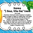 """I Have, Who Has"" Oceans Game"