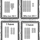 I Have Who Has Place Value Base 10 Blocks and Cubes--Set o