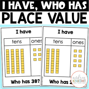 I Have-Who Has: Place Value-Tens & Ones