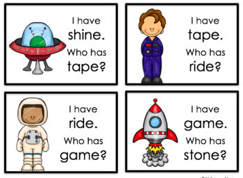 I Have, Who Has-Space Race (cvce and ccvce words)