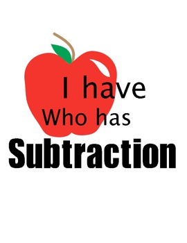 I Have Who Has Subtraction-35