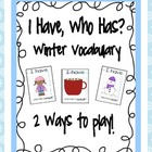 I Have, Who Has? Winter Vocabulary Freebie