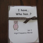 I Have, Who Has ready-made set! High Frequency Words, Set 3