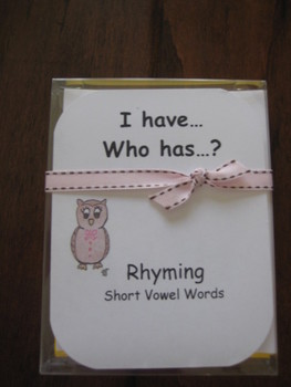 I Have, Who Has ready-made set! Rhyming--Short Vowel Words
