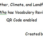 I Have, Who Has? (weather &amp; landforms version) vocabulary review