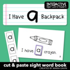 "Interactive Sight Word Reader ""I Have a Backpack"""