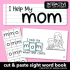 "Interactive Sight Word Reader ""I Help My MOM"""