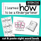 """I Learned How to Be a Kindergartener"" Interactive Sight W"