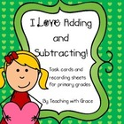 I Love Adding and Subtracting: Valentine Themed Math Activity