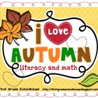 I Love Autumn Literacy and Math