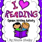 I Love Reading-My Favorite Book Opinion Writing Activity