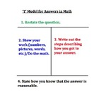 I-Model Template for Word Problems with Practice Questions!