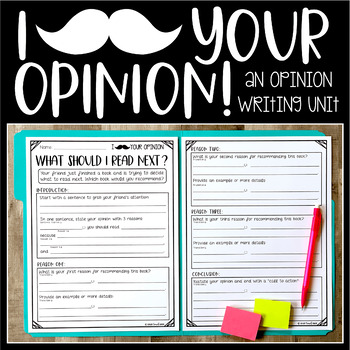 "I ""Mustache"" Your Opinion (An Opinion Writing Unit)"