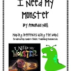 I Need My Monster, by Amanda Noll, Questions, Inferences,