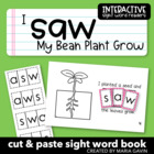 """I Saw My Bean Plant Grow"" Interactive Sight Word Reader"