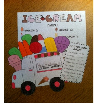 I Scream, You Scream for Ice Cream Math & Writing Activity
