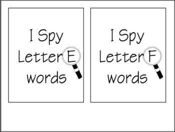 I Spy! Beginning Sounds {word work cards}