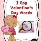 I Spy Valentine's Day Words