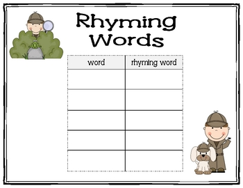I Spy Word Hunt Activities