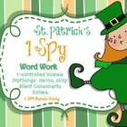 I Spy Word Work  ~St. Patrick's Edition~