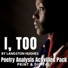 """I, Too, Sing America"" by Langston Hughes Activity Pack"