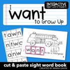 "Interactive Sight Word Reader ""I Want to Grow Up"""