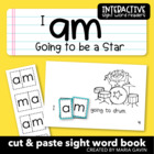 "Interactive Sight Word Reader ""I am Going to Be a Star"""