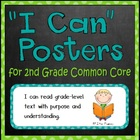 """I can"" Objective Posters for Common Core Standards (2nd Grade)"