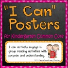 """I can"" Objective Posters for Common Core Standards (Kinde"