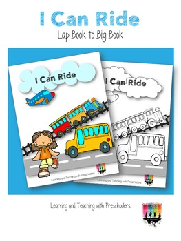 I can ride...  in a ...  Early Reader Book