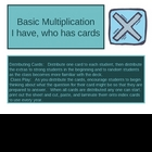 I have, Who has, Multiplication Flashcards - Kagan strategy