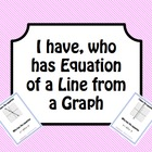 I have, who has equation of a line from a graph math game