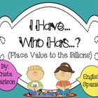 I have...Who has...? Place Value Game to the Billions (Eng