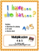 I have...Who has...Multiplication Facts Bundle