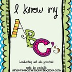 I know my ABC's! {handwriting and ABC practice}