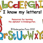 I know my letters! (learning the alphabet in Kindergarten)