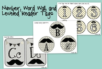 "I ""mustache"" you... A Classroom Decor Packet"