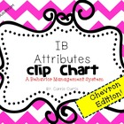 IB Attitudes Behavior Clipchart: Chevron Edition!
