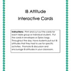 IB Attitudes Interactive Cards (IB)