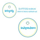 IB Attitudes owl signs/posters  with letters too for an IB
