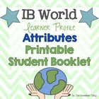 {IB Learner Profile Attributes} Student Booklet with Gradi