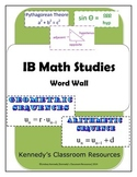 IB Math Studies - Complete Word Wall