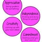IB PYP Attitudes - Pink Polka Dots