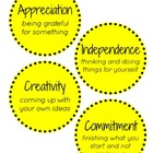 IB PYP Attitudes - Yellow Polka Dots