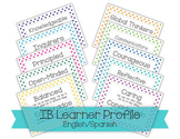 IB PYP Learner Profile 2014 - English/Spanish Polka Dots